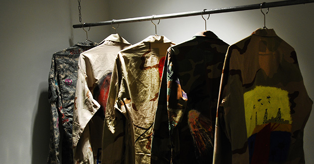 Painted military jackets.