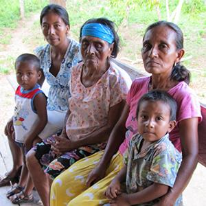 Honduran family (four generations).