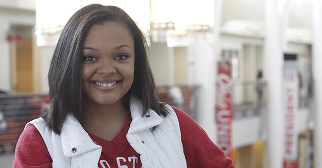 Sociology undergrad Chasmine Anderson.