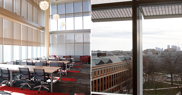 Dow Student Lounge: With spectacular views of campus and downtown Columbus.