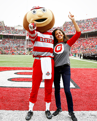 Aimee and Brutus in the Shoe