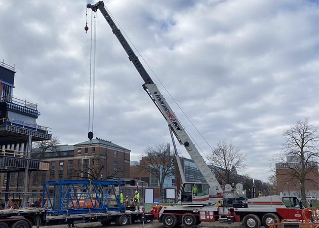 Crane Arriving on Site