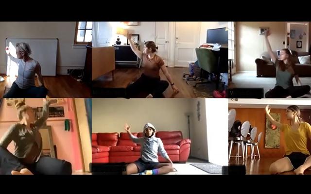 Petry's class dancing through Zoom