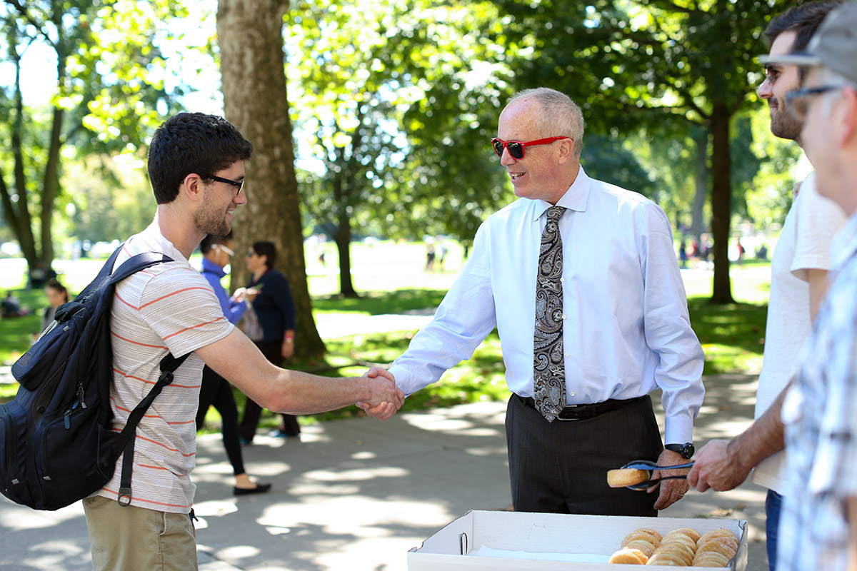 Dean Manderscheid and student