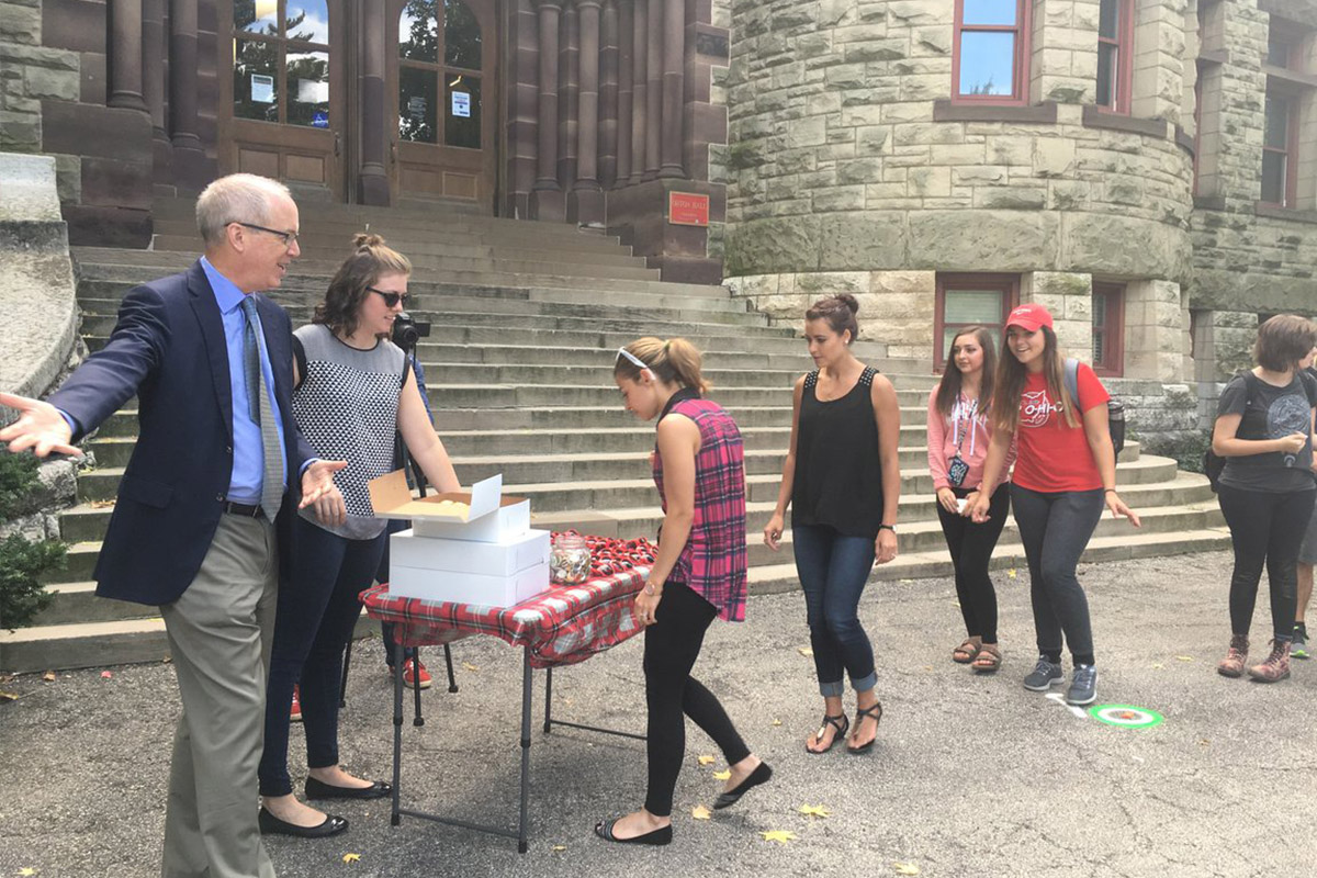 Donuts with the Dean, Sept. 2016