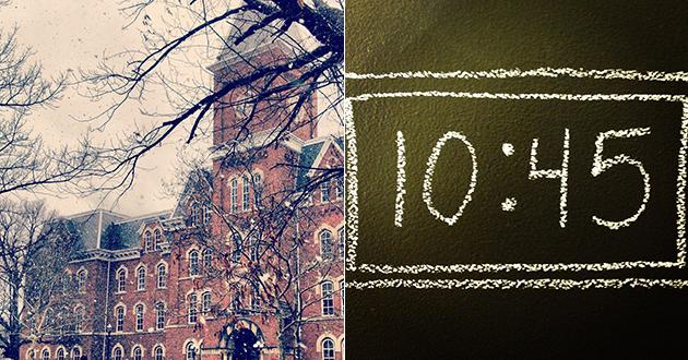 University Hall, 10:45 a.m.