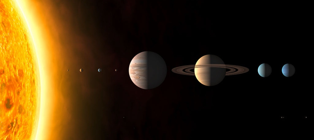 Illustration of planets and the solar system