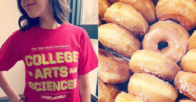 College of Arts and Sciences t-shirts/donuts