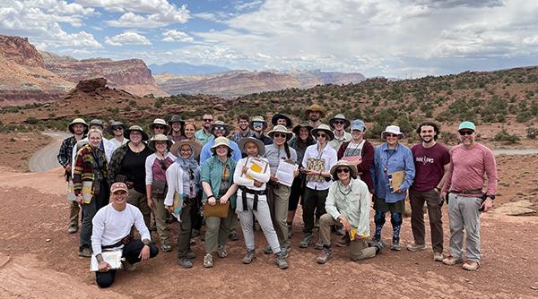 Earth sciences field campers in Utah