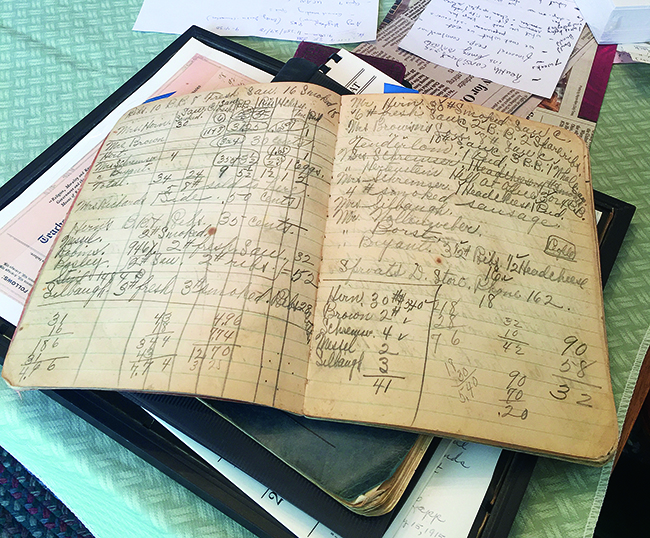 Students worked with Barb Bradbury of Hurricane Run Farm near Otway, Ohio, to digitize ledgers and letters from her grandmother's farm in the 1930s, as well as the family farm's current records.