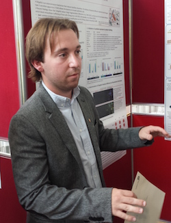 Adam Bercz presents his poster