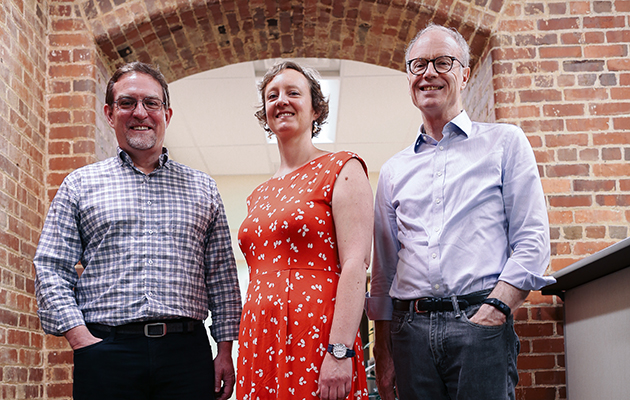 IPR researchers Samuel Clark, Sarah Hayford and John Casterline