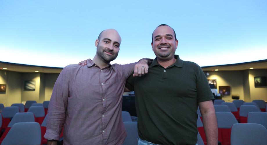Paul Sutter and Wayne Schlingman in Ohio State Planetarium