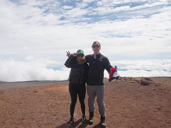 Ranieri and his wife at the summit of Mauna Kea