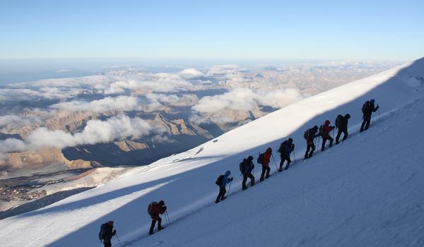 Ranieri climbing a mountain