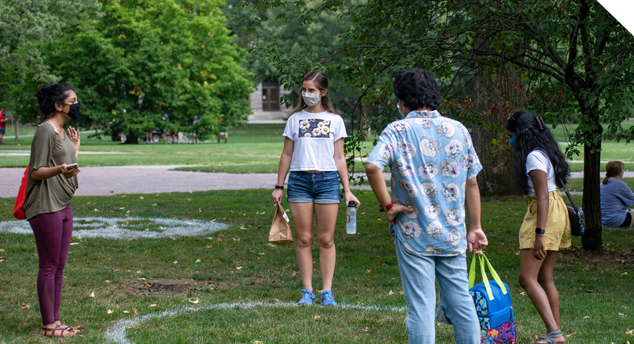 Students on the oval