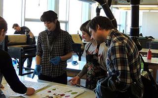 Printmaking Students