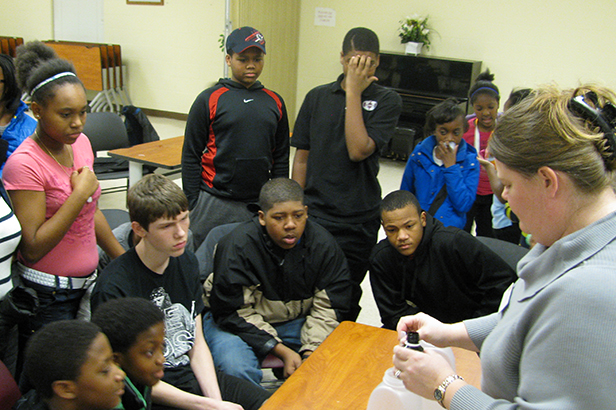 Students in the Math and Science Program