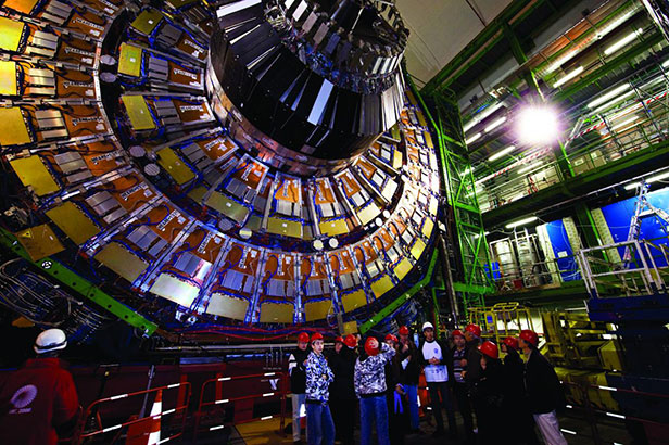 The ultimate discovery machine: The Large Hadron Collider deep underground in Geneva, Switzerland. Photo courtesy of CERN