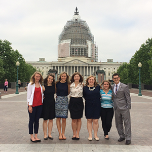 SPHS students on Capitol Hill