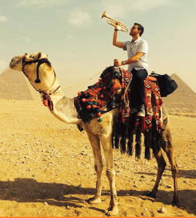 stanco on a camel