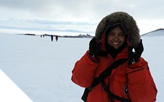 Melisa Diaz in Antarctica