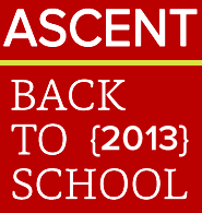 ASCENT Back to School 2013 Cover
