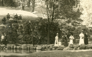 Mirror Lake in the 1880s.