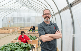Kip Curtis at microfarm