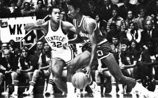 Miller playing basketball