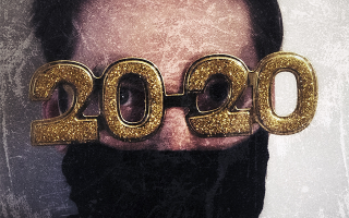 Man wearing 2020 glasses