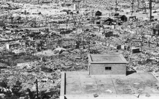 Hiroshima after atomic bomb