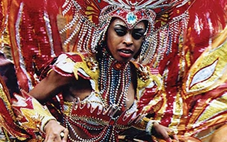 Fire Goddess, Notting Hill Carnival, London, England, 2002.  Photograph by A. R. Tompsett.
