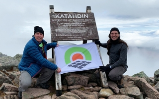 Tony Ranieri at Mount Katahdin Summit