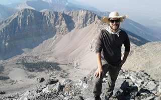 Forrest Schoessow, a PhD candidate in the Department of Geography, at Great Basin National Park in Nevada.