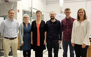 From left: Zachary Van Aernum, Sophie Harvey, Vicki Wysocki, Florian Busch, Benjamin Jones, Erin Panczyk