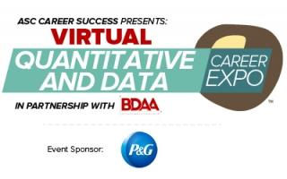Quantitative and Data Career Expo - Virtual (event icon)