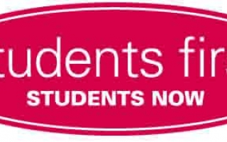 Students First Students Now logo.