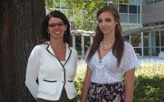 Joanne Ruthstaz and Lauren Voiers.