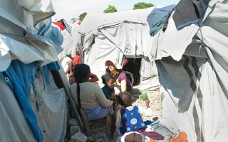 Molly Farrell in Haiti.