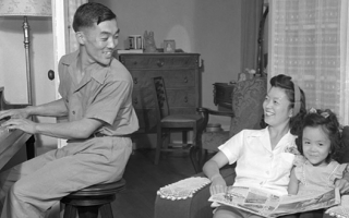 Japanese-American Family, 1940's.