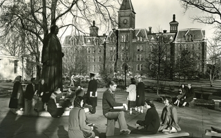 University Hall in the 40s