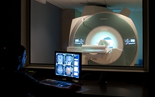Photo of a MRI machine
