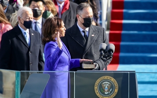 Kamala Harris sworn in as vice president of the United States.