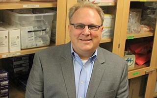 Raymond Goodrich in a lab