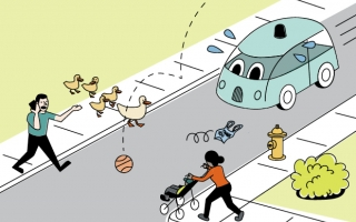 illustration of road scene