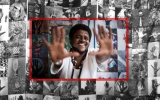 Moisés Patrício over photo collage