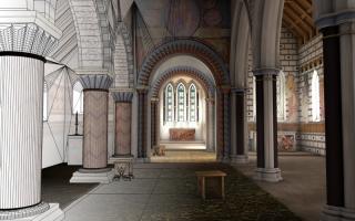 Renaissance church rendering