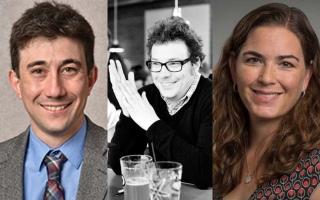 Joshua Goldberger, Christopher Otter and Elisabeth Root headshots
