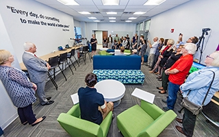 Gary and Connie Sharpe Geography Innovation Commons grand opening, Sept. 20, 2018.